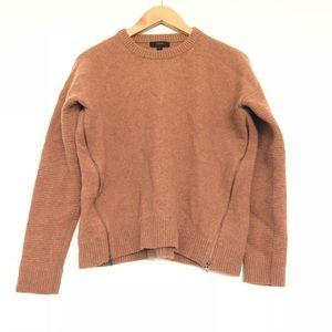 J.Crew Camel/Tan Pullover Wool Sweater w/Zippers